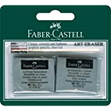 Faber-Castell Kneadable Eraser Grey, 2 Pack, (82-127018)