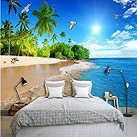 Weaeo カスタム写真の壁紙3D海辺の風景自然の壁画寝室のリビングルームテレビのソファの背景壁画3D-200X140Cm