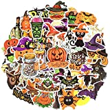Waterproof Vinyl Laptop Stickers for Kids Teens Party Favors (50 Pcs Halloween Style)