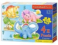 4 Castorland Premium Jigsaw Baby Dinosaurs