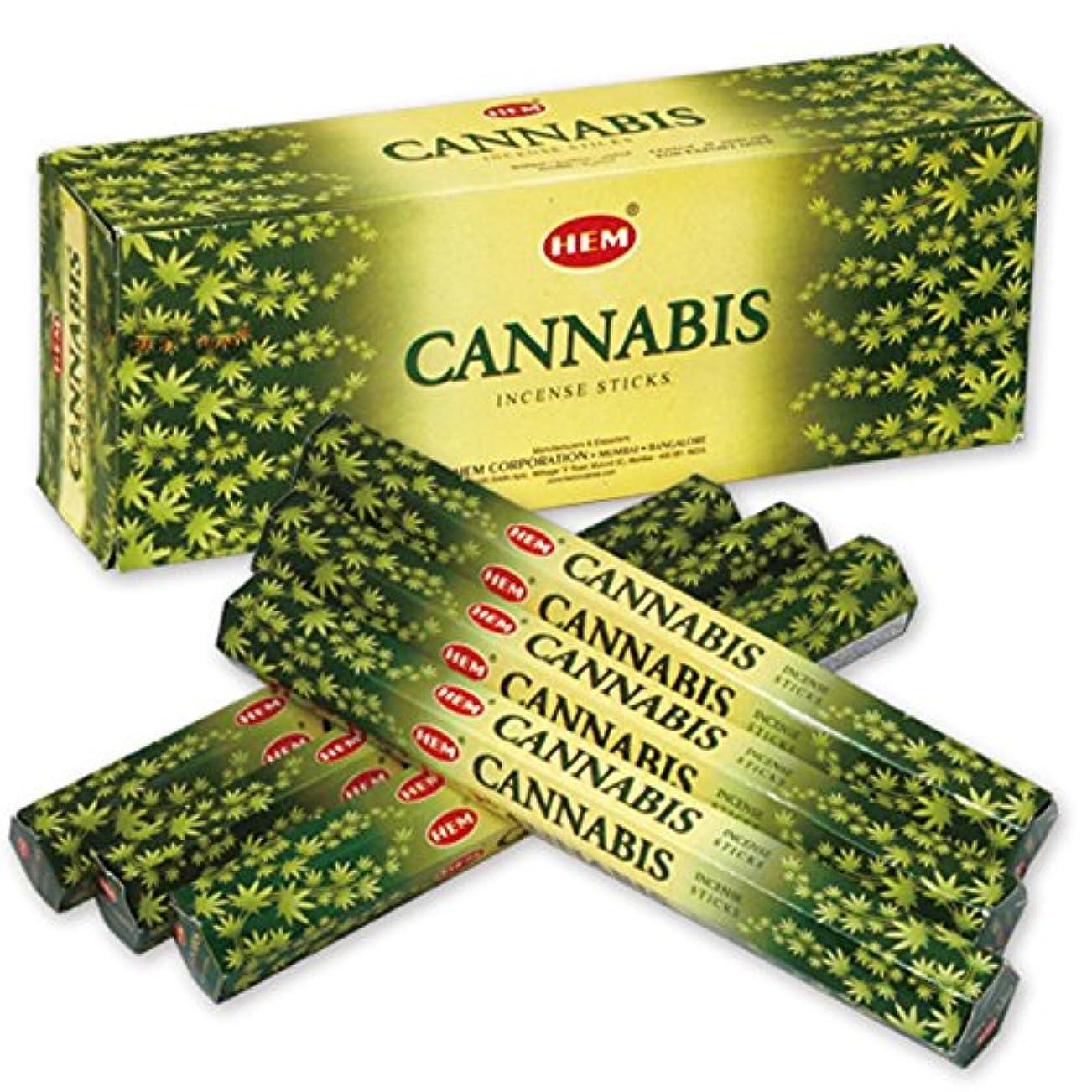 皮肉なやるメタンHEM(ヘム) カナビス CANNABIS スティックタイプ お香 6筒 セット [並行輸入品]