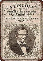 アブラハム・リンカーン・タバコ注意看板メタル金属板レトロブリキ家の装飾プラーク警告サイン安全標識デザイン贈り物