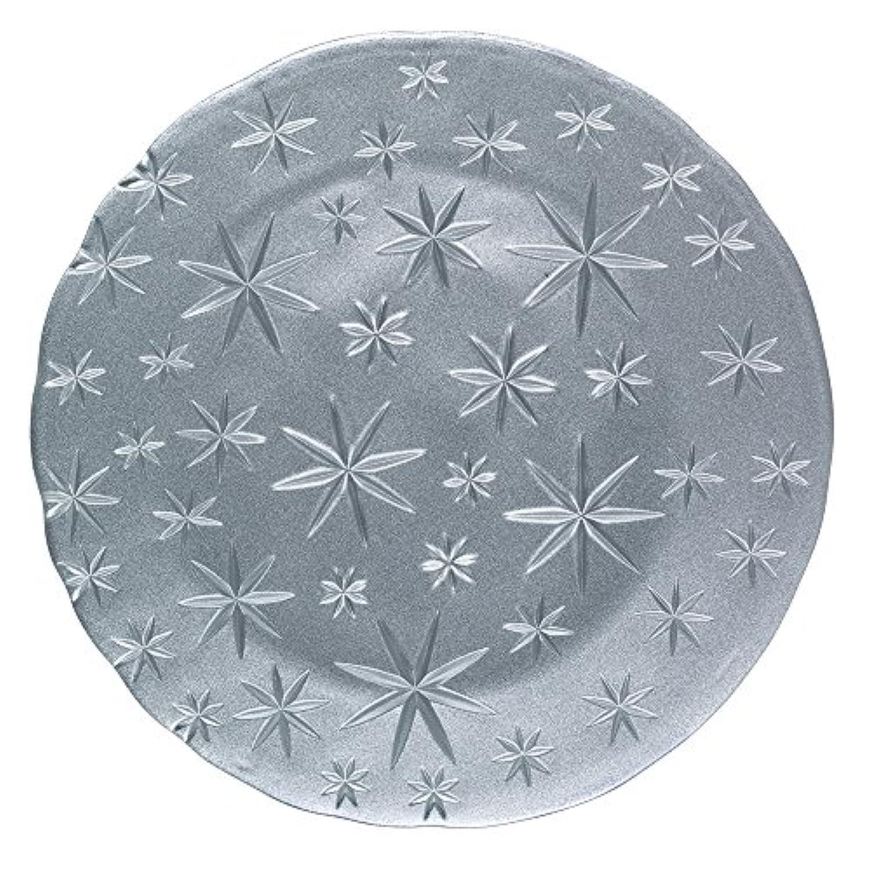 ナハトマン(Nachtmann) スターズ チャージャープレート シルバー クリスタルガラス 32cm 95893 1枚入