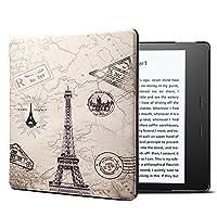Kindle Oasis 2017 ケース 高級PUレザー 開閉式軽量薄型 フリップ 保護 スマートカバー [自動ウェイク/スリープ] ために Amazon Kindle Oasis 2017-7インチ版 第9世代専用 エッフェル塔