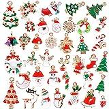 38種 38個入り クリスマス チャーム アクセサリーチャーム クリスマス サンタ ツリー ブーツ ペンダント チャームアクセサリーセット たくさん (約10mmから30mm)
