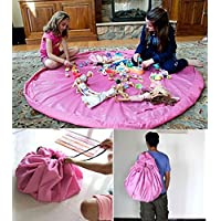 LLTrader? Large 60 Diameter Toy Mat Floor Mat Storage Bag And Play Mat 150cm Toys Pouch Toys Organizer - Pink by ShengF