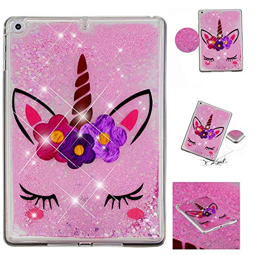 MGVV iPad 2 Case Back Case Cover, Lightweight Liquid 3D Tablet Glitter Case Cover Bling Sparkle Quicksand Protective Case for iPad 2/iPad 3/iPad 4 (11AC1207)