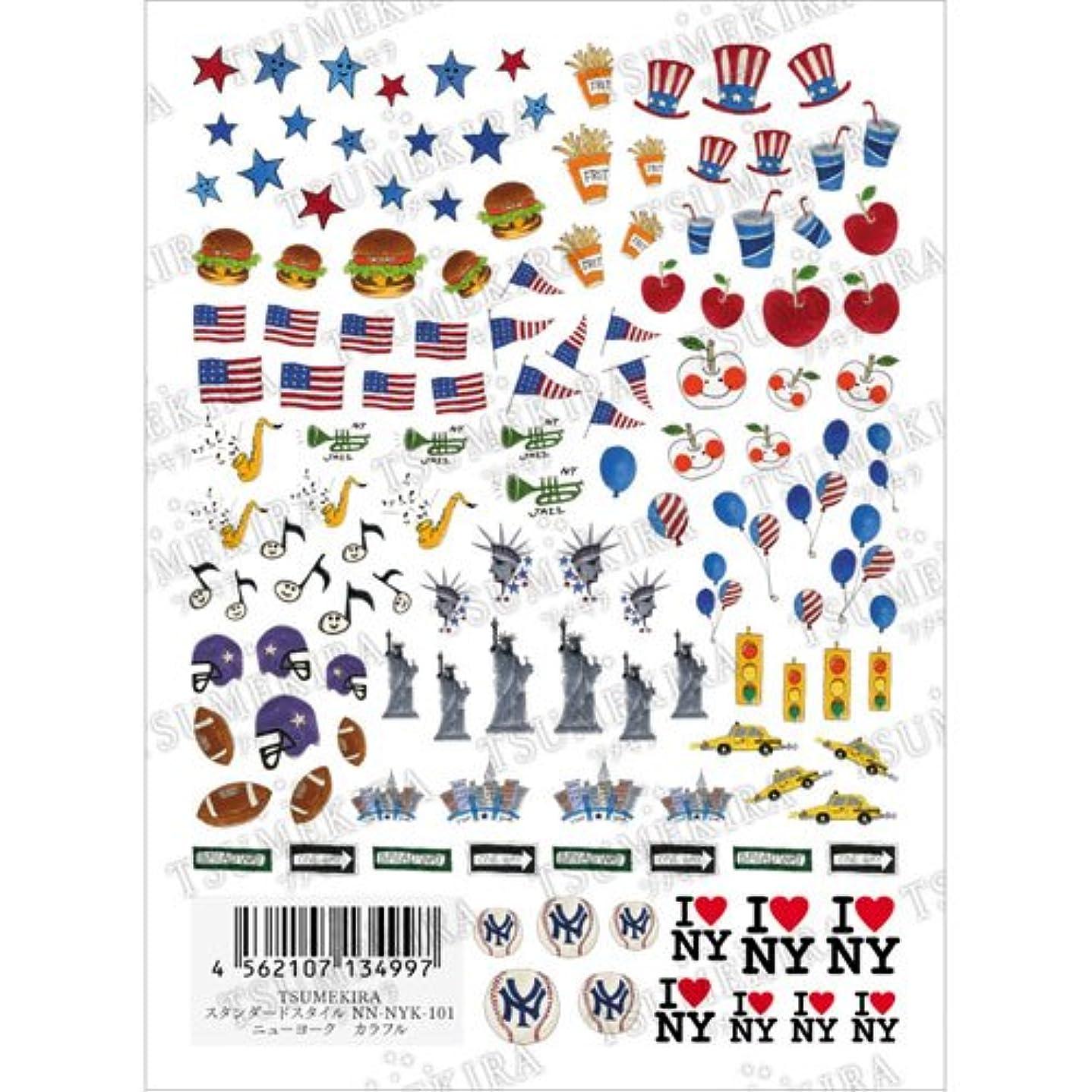 懲戒介入する壁紙ツメキラ ネイル用シール ニューヨーク カラフル  NN-NYK-101