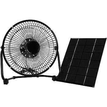 Amazon.co.jp: 扇風機 ソーラー 8寸 ポータブル ファン 卓上扇風機 ...