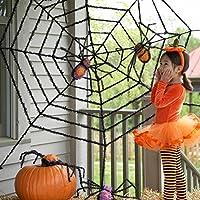 ハロウィン 飾り 装飾 ぬいぐるみ風 くも 蜘蛛の巣 セット デコレーション インテリア [並行輸入品]