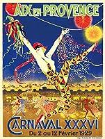 Aix–En–Provence–Carnavalヴィンテージポスター(アーティスト: Viano )フランスC。1929 24 x 36 Giclee Print LANT-66058-24x36