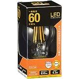 オーム電機 LEDフィラメントタイプ電球 クリア(60形相当/830lm/電球色/E26/全方向配光310°) LDA6L C6