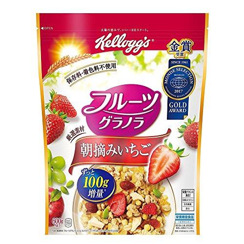 ケロッグ フルーツグラノラ 朝摘みいちご 600g×6袋