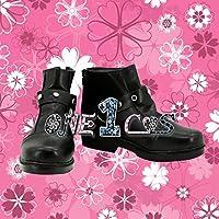 【サイズ選択可】コスプレ靴 ブーツ 12L1557 巌窟王 がんくつおう モンテ・クリスト伯爵 エドモン・ダンテス 女性24CM
