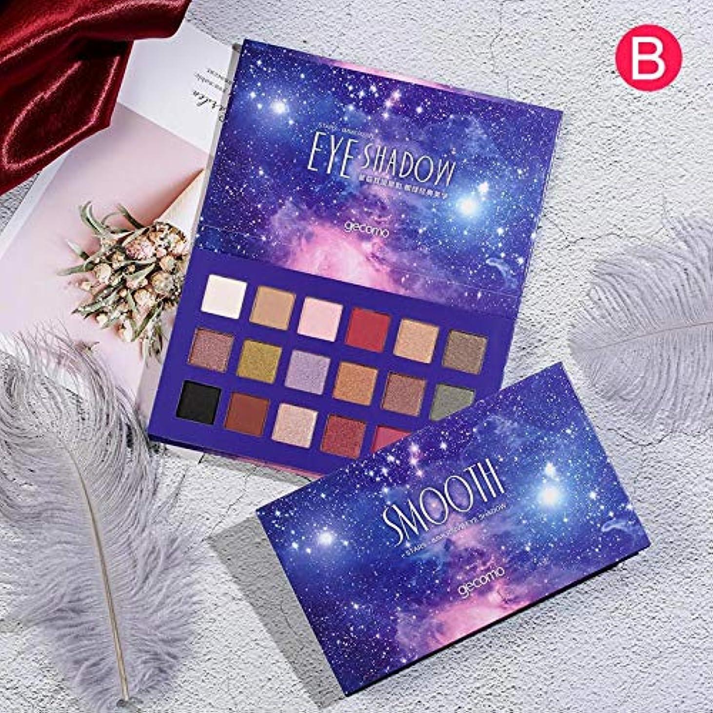 Symboat アイシャドウパレット 18色無光沢ロングラスティング フローティングライト 鮮やかな発色 化粧品 ナチュラル 自然立体 多色 化粧美容人気 完全な色調 (B)