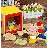 幼児期のゲーム 子供のためのブランドの新しい木の形状選別教育的な形の色認識玩具