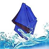 FIRST2SAVVV 濃紺 冷却 スポーツ タオル Cooling Towel 軽量 スーパークーリングタオル - YD-MJ-14