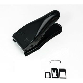 SIMパンチ(micro/nano 対応SIMカッター)iPhone5/iPhone4S/4用+SIM変換アダプター 3点セット (標準, マイクロ, nano)+SIMリリースピン