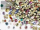 (v7)スワロフスキー Vカット チャトン カラー&サイズミックス SSサイズ(PP9-14) 15粒