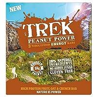 (Trek (トレッキング)) ピーナッツパワーWholefoodのエネルギーバー3パック165グラム (x4) - Trek Peanut Power Wholefood Energy Bars 3 Pack 165g (Pack of 4) [並行輸入品]