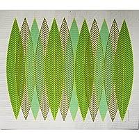 スウェーデンDrying Mat–ブレードLeaves Green