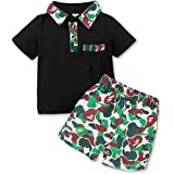 Toddler Baby boy Summer Clothes Outfits Cotton Camouflage Print Sleeveless Vest + Camo Shorts Boy Clothes Set