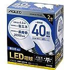 AGLED LED電球 口金直径26mm 40W形相当 昼白色 広配光 2個セット(20000時間) LDA4N-G-4T6-E2Pが激安特価!