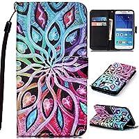 Samsung Galaxy S6 ケース UNEXTATI 保護カバー 手帳型 Samsung Galaxy S6 対応 ストラップ付き カード収納付 落下防止 衝撃吸収 財布型 ケース 携帯電話カバー (P3 マルチカラー)