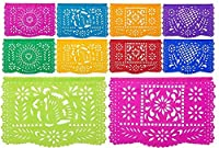 """MediumプラスチックPapel Picado """" Coloreada Mexicana """"–デザインと色as pictured by用紙Full of Wishes"""