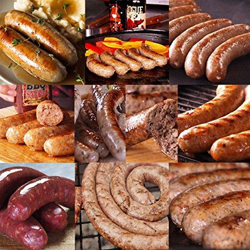 ミートガイ 手作り 生ソーセージ アソートセット (10種 約4kg) 100%無添加・砂糖不使用 Additive-free Non-Sugar Original Sausage Variety Set
