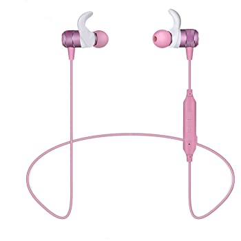 Bluetooth イヤホン ワイヤレスイヤホン 高音質 重低音 ブルートゥース 4.2 CVC6.0 ノイズキャンセリング IPX5 防水 軽量 マグネット搭載 マイク搭載 ハンズフリー通話 ワイヤレスイヤホン 技適認証済 日本語説明書付き borofone (ピンク)