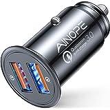 AINOPE シガーソケットusb, [デュアルQC3.0ポート] 36W/6A 超小型 [すべての金属] 高速車の充電器 車usb シガーソケット usb 急速充電 に iPhone 11 Pro Max/XR/X, iPad Air 2/Mini