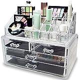 コスメ収納セット 引き出し型 アクリル製 小物入れ 化粧品収納ボックス アクセサリー メイクケース (コスメ収納A)