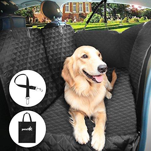 ペット用ドライブシート 車用ペットシート ペット安全ベルト付き 改良系 絹紬生地 防水 滑り止め 洗濯可 全車種 全ペット対応