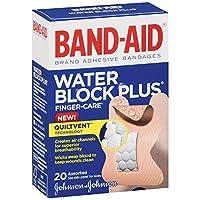 Band-Aid サイズ20CTウォーターブロックプラスフィンガーケア盛り合わせサイズ包帯BnをB-ウォーターブロックフィンガー 2パック