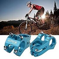 調節可能な自転車MTBバイクアルミニウムショートハンドルバーステムライザー固定SM24ブルー