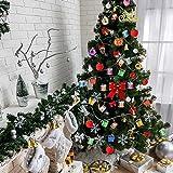 KUUQA クリスマスツリー オーナメント 飾り セット リボン ボール 含め 81個 装飾 小物 (クリスマスツリー飾りセット)
