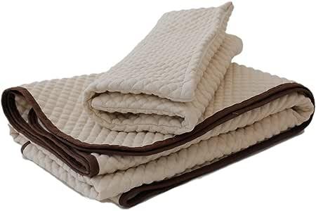 麻夢物語 2点セット 敷きパッド 枕カバー ダブル 麻素材