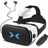 SAMONIC 3D VRゴーグル VRヘッドセット iPhone Androidスマホ対応「イヤホン、Bluetoot…