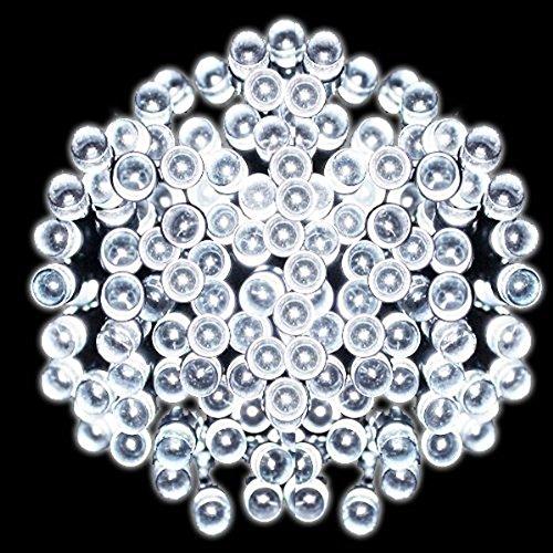 種類色々 100灯 200灯 イルミネーション 防水 ソーラー LED ライト (06_200灯ホワイト)