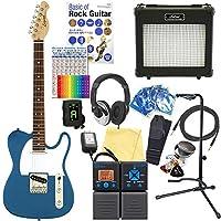 エレキギター 初心者セット テレキャスタータイプ 18点セット Legend LTE-Z MBL/R 【ZOOM G1on マルチエフェクター付】