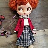 (ドーリア)Dollia ブライス 1/6ドール用 アウトフィット カジュアル ドレスセット 4点セット スカーフ カーディガン スカート ベルト デザイン 服 ネオブライス ドール 人形