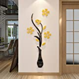 3d Vase Wall Murals for Living Room Bedroom Sofa Backdrop Tv Wall Background, Originality Stickers Gift, DIY Wall Decal Wall
