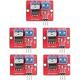 Akozon 5個 0-24V IRF520 MOSFETドライバモジュールボタンドライブ、Arduino用(3.5V / 5V)