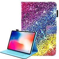 iPad Pro 11 2018 ケース、[ペンホルダー] Painted 高級 レザーTPU内側 [磁気閉鎖] オートスリープスタンド機能 財布型 手帳型Apple iPad Pro 11 2018用(ダイヤモンド)