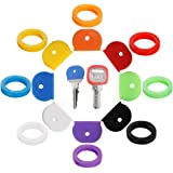 16PCS Key Caps Covers Tags, Key Cap Key Ring Combination Key Identifier Label ID Perfect Coding System to Identify Your Key i