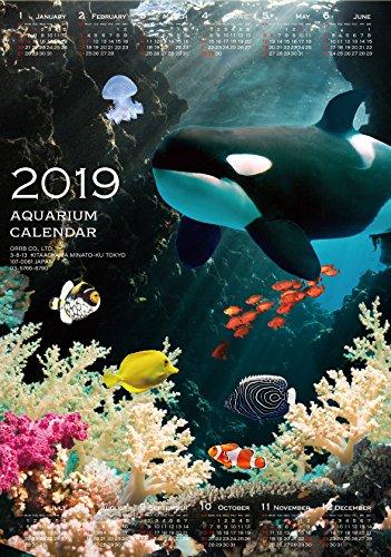 オーブ 2019年 カレンダー 壁掛け 3D アクアリウム C 3D-1500C