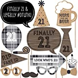 Finally 21 - 21st Birthday Photo Booth Props Kit - 20 Count