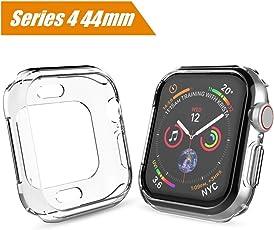Maxku Apple Watch Series 4 44mm / Apple Watch 4 44mm ケース メッキTPUケース ソフト 耐衝撃 薄型 軽量 カバー TPU 脱着簡単 アップル ウォッチ シリーズ4 44mm ケース(クリア)