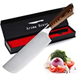 Nakiri Knife Vegetable Knife 7-Inch Kitchen Knife With High-Carbon Stainless Steel & Ergonomic Handle Nakiri Chef Knife Suita